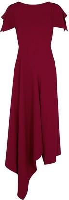 Roland Mouret Warren red asymmetric midi dress