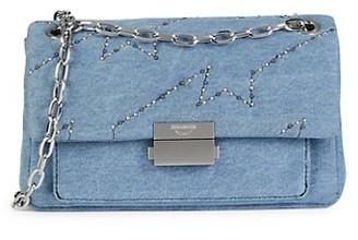 Zadig & Voltaire Ziggy Chain-Strap Denim Bag