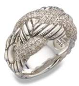 David Yurman Diamond & Sterling Silver Woven Ring