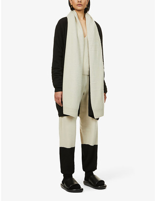 Frenckenberger Draped-collar cashmere cardigan