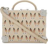 MCM Ladies Beige Embossed Practical Bunny Motif Berlin Cross-Body Bag