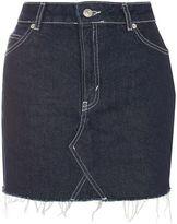 Topshop MOTO Contrast Stitch Skirt