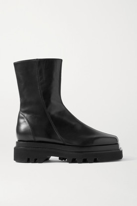 Peter Do Leather Ankle Boots - Black