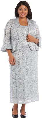 R & M Richards R&M Richards Lace Column Dress with Matching Lace Jacket