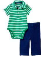 Little Me Whale Polo Pant Set (Baby Boys)