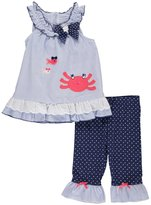 "Nannette Baby Girls' ""Cute Crab"" 2-Piece Outfit"