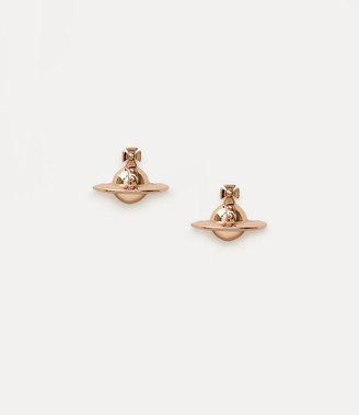 Vivienne Westwood Pink Gold Solid Orb Earrings