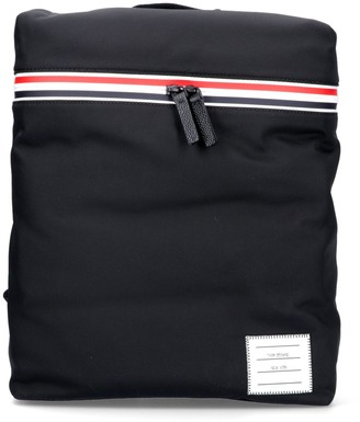 Thom Browne Stripe Detail Zipped Backpack