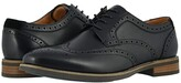 Florsheim Uptown Wing Tip Oxford (Black Leather/Suede) Men's Shoes