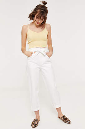 Ardene High Rise Belted Mom Jeans
