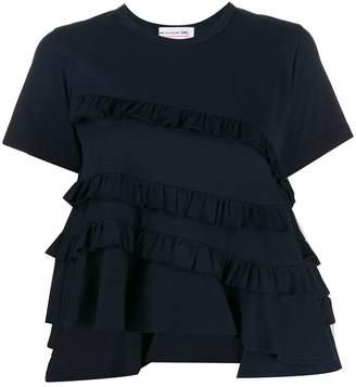 Comme des Garcons asymmetric ruffle detail T-shirt