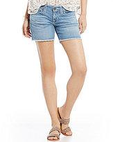 Big Star Remy Frayed Hem Woven Stretch Denim Shorts