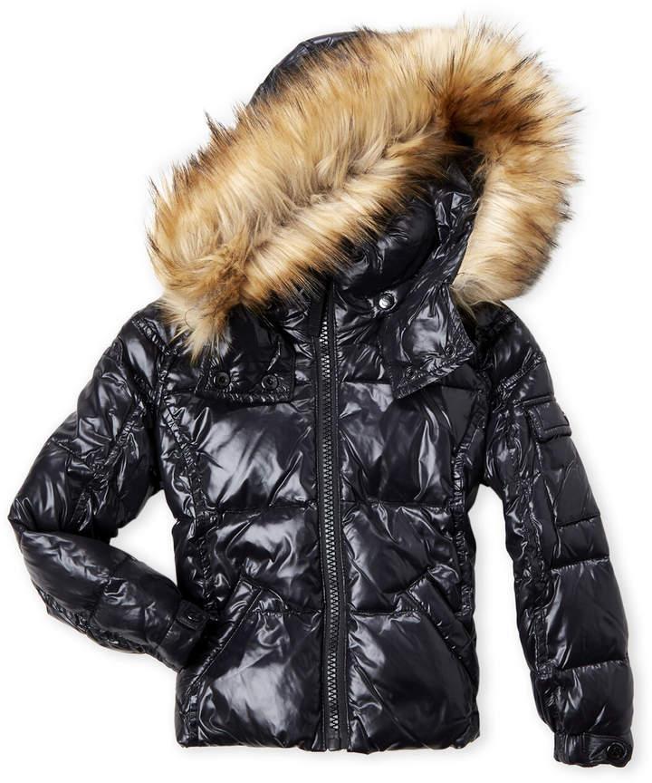 7ee51eb61 Toddler Girls) Mogul Faux Fur Trim Coat