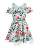 Beautees Big Girls' Belted Cold Shoulder Dress