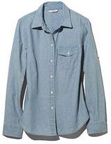 L.L. Bean Signature Chambray Roll-Tab Shirt