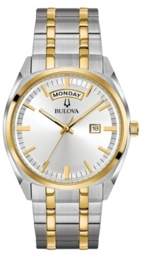 Bulova Men's Classic Two-Tone Stainless Steel Bracelet Watch 39mm