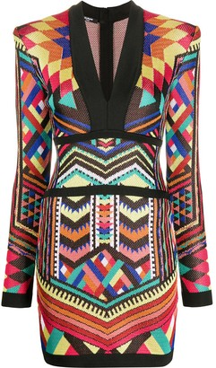 Balmain geometric print dress