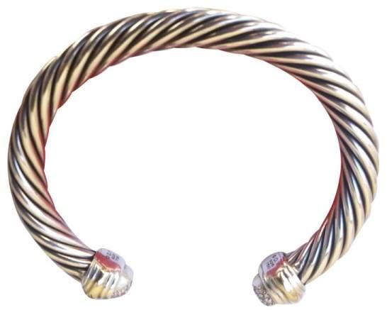 David Yurman 18K Gold & 925 Stainless Steel With 0.49ct Diamonds Bracelet