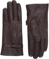 """Oasis LEATHER BOW GLOVE [span class=""""variation_color_heading""""]- Burgundy[/span]"""