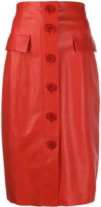Drome Buttoned Pencil Skirt