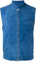Eleventy lightweight horizontal stitch gilet - men - Cotton/Suede/Polyester/Spandex/Elastane - 52