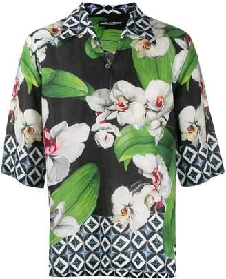 Dolce & Gabbana orchid print Hawaiian shirt