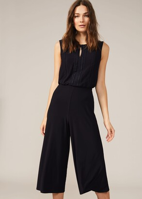 Phase Eight Brix Lace Trim Culotte Jumpsuit