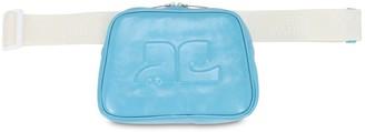 Courreges Embossed Logo Patent Leather Belt Bag