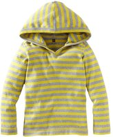 Tea Collection City Stripe Happy Hoodie - Med Heather Grey-3-6 Months