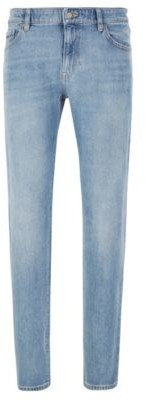 HUGO BOSS - Regular Fit Jeans In Bright Blue Stonewashed Denim - Blue