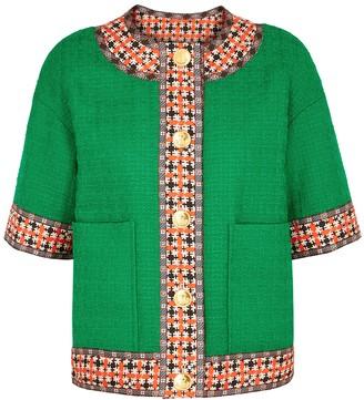 Gucci Emerald boucle tweed jacket