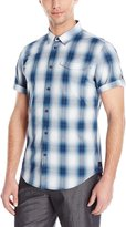 Calvin Klein Jeans Men's Spring Ombre Check Button Down Shirt