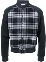 Tomas Maier checked bomber jacket
