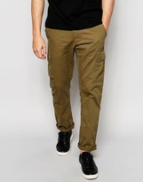 Ringspun Slim Fit Cargo Trousers
