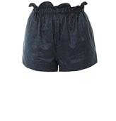 Julien David Contrast iridescent jacquard shorts