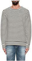 Dondup Ivory/black Gehrig Striped Sweatshirt