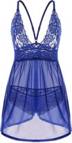 Adorneve Women's Lace Babydoll Lingerie Mesh Chemises Sexy Outfits Nightwear and G-string