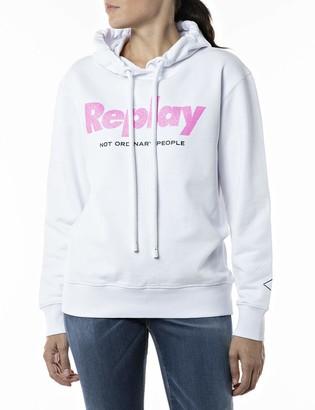 Replay Women's W3554A Hooded Sweatshirt