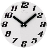 "Oliver Hemming Wall Clock with Bold Readable Number Dial - White (12"")"