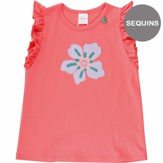 Green Cotton Fred's World by Girl's Aloha Flower T T-Shirt