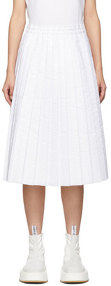 MM6 MAISON MARGIELA White Padded Pleated Skirt