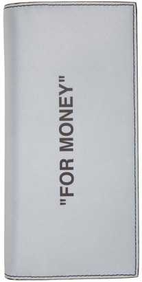 Off-White Silver Quote Yen Wallet