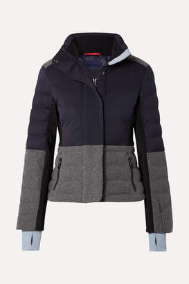 Erin Snow Sari Color-block Quilted Jacket - Navy