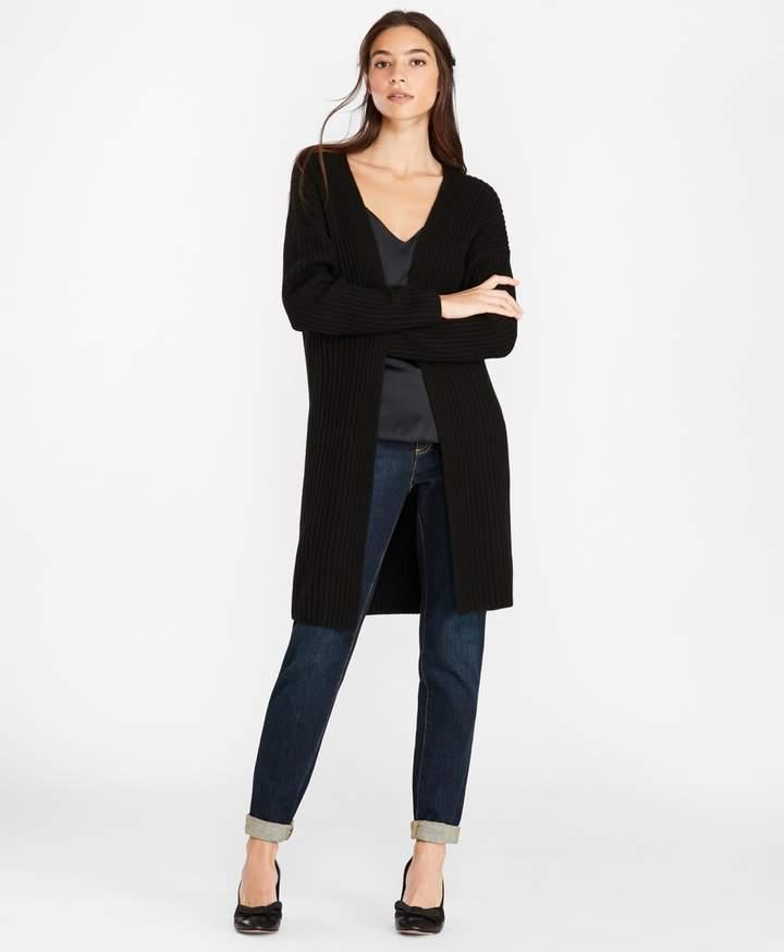 Brooks Brothers Wool-Blend Drop-Shoulder Duster Cardigan