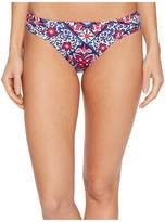 Tommy Bahama Persian Patchwork Side Shirred Hipster Bikini Bottom