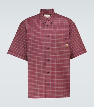 Gucci Checked-print cotton shirt