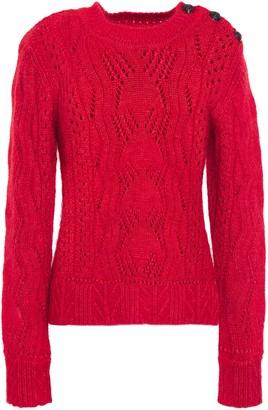 BA&SH Pointelle-knit Cotton, Mohair Wool And Silk-blend Sweater