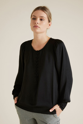 Seed Heritage Button Down Blouse