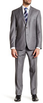 JB Britches Grey Sharkskin Wool Flat Front Side Vent Suit