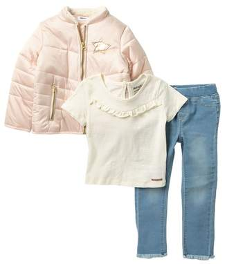 Hudson Jeans 3-Piece Puffer Jacket Set (Toddler Girls)